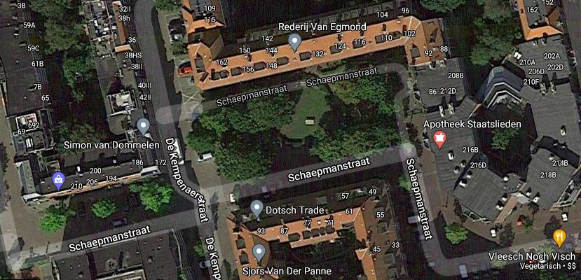 Little Park at the Schaepmanstraat in Amsterdam